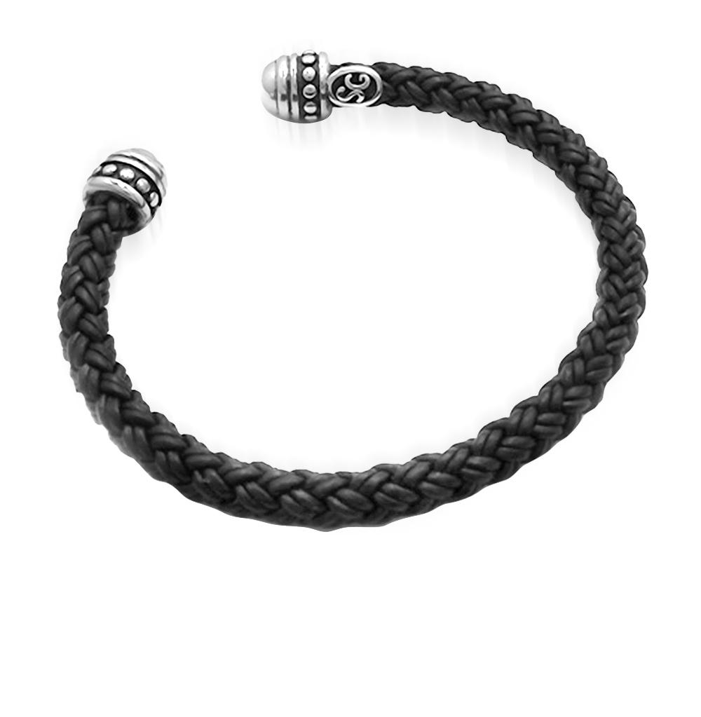 Фото «браслет из стали и кожи с сталью»