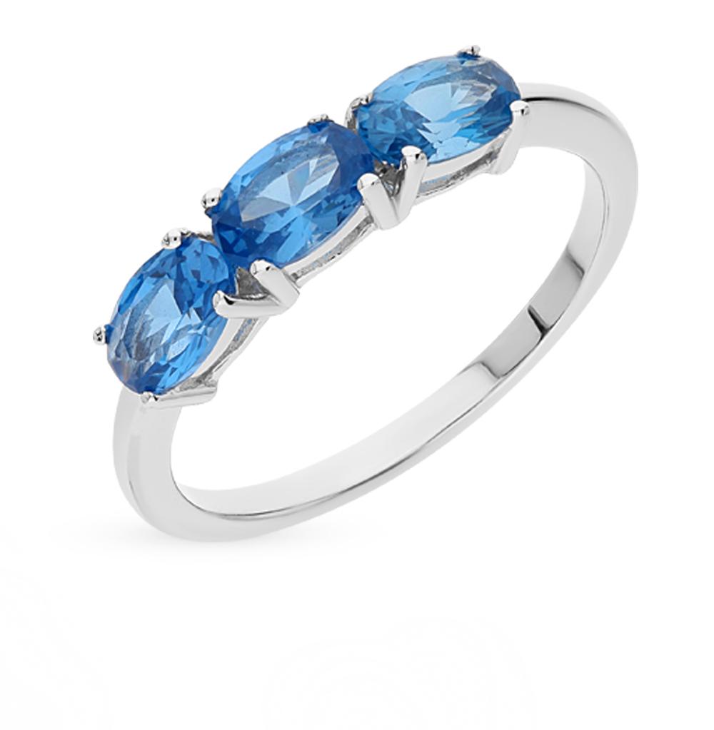 Фото «серебряное кольцо с топазами синтетическими»