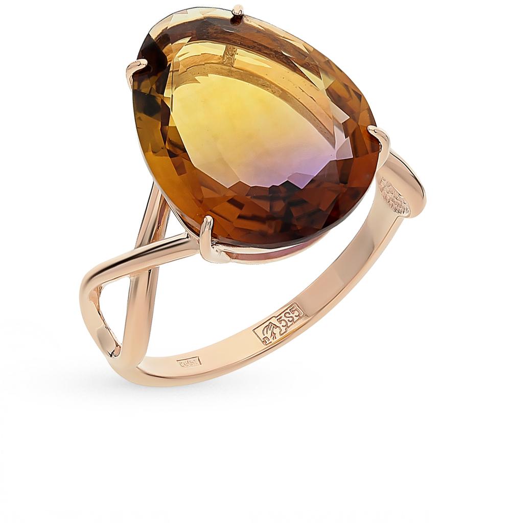 Фото «золотое кольцо с аметриными»