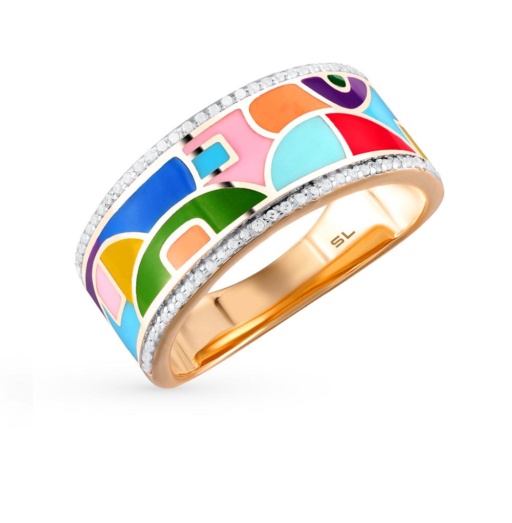 Фото «золотое кольцо с бриллиантами и эмалью»