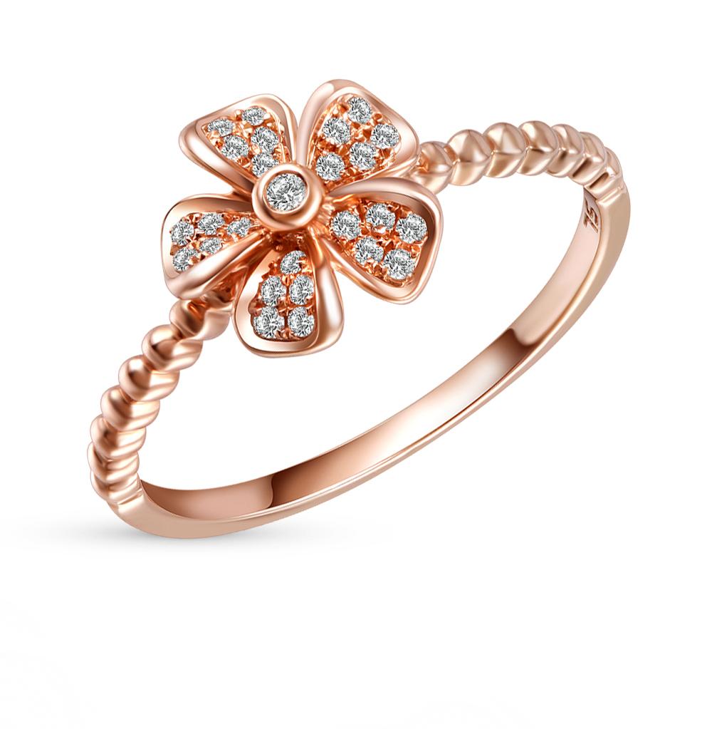 Фото «серебряное кольцо с турмалинами имитациями и фианитами»