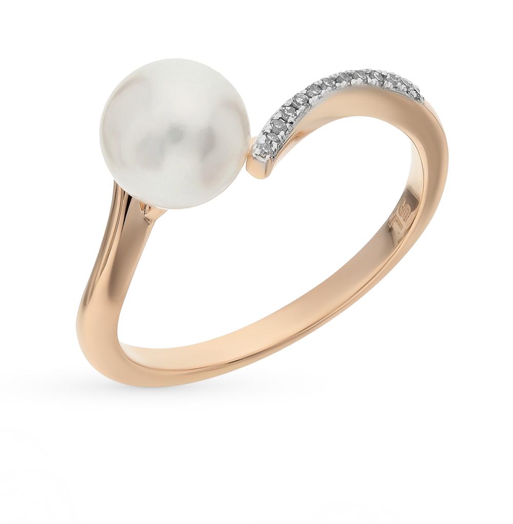 Фото «золотое кольцо с бриллиантами и жемчугом»