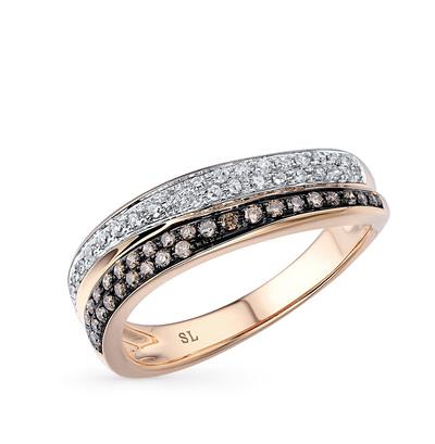 Фото «серебряное кольцо с бриллиантами, жемчугом имитациями и фианитами»