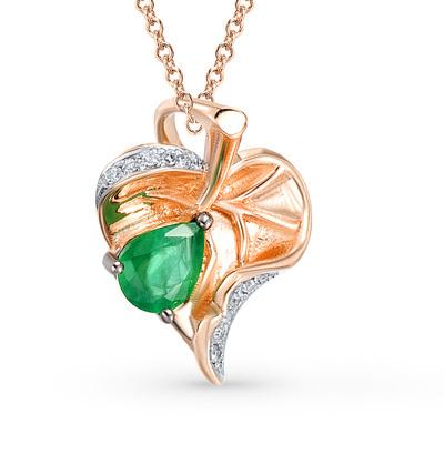 Фото «золотая подвеска с бриллиантами и изумрудами»