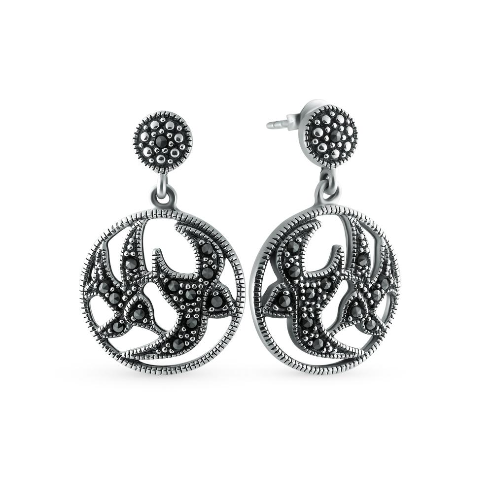 Фото «серебряные серьги с марказитами»