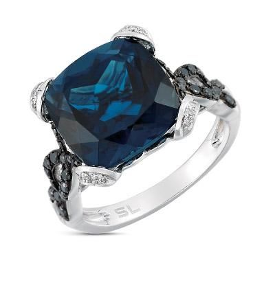 Фото «кольцо с бриллиантами и топазами»
