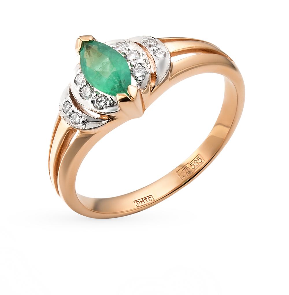 Фото «золотое кольцо с бриллиантами, изумрудами и сапфирами»