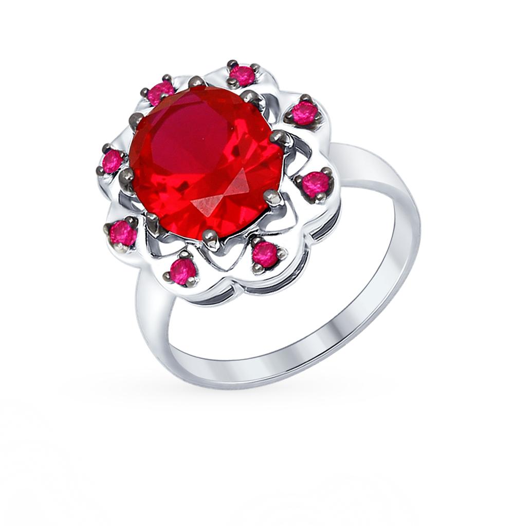 Фото «серебряное кольцо с фианитами и корундами синтетическими»