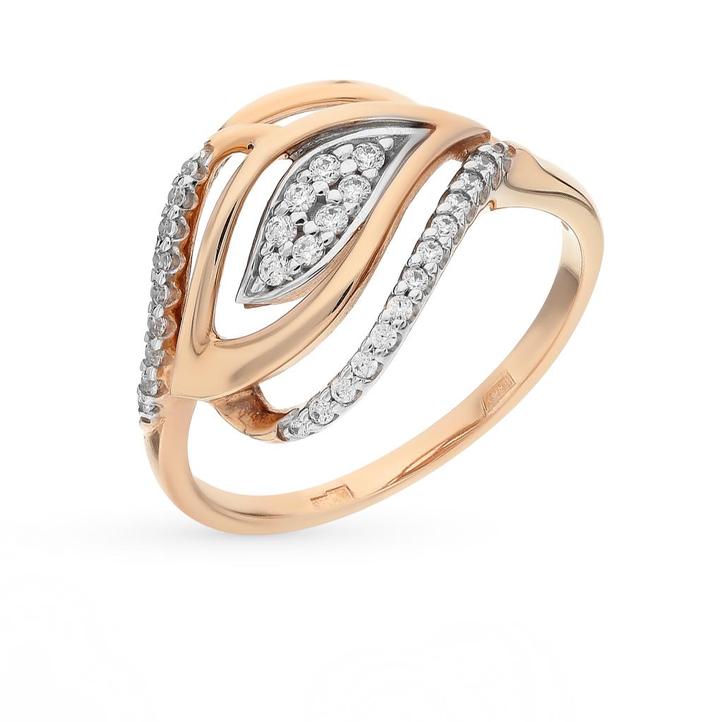 Фото «золотое кольцо с фианитами и бриллиантами»