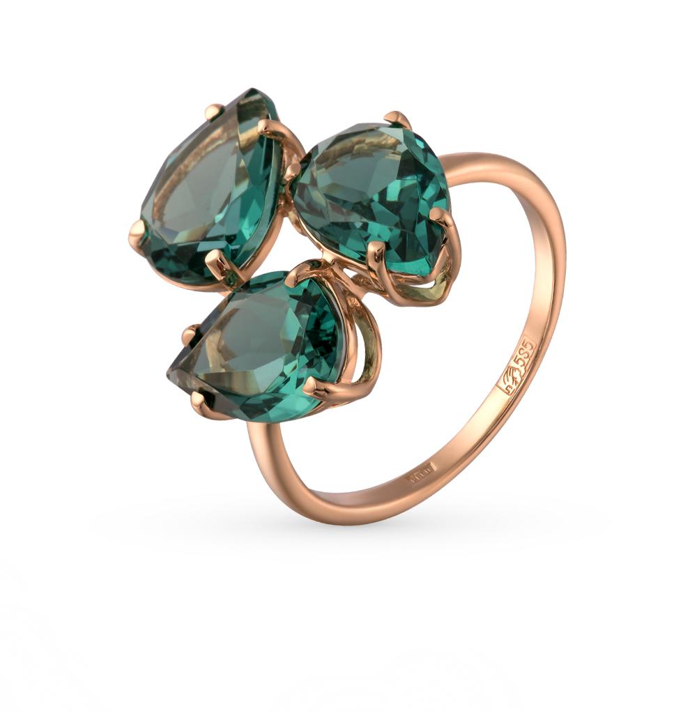 Фото «золотое кольцо с турмалинами имитациями»