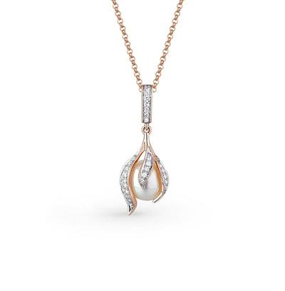Фото «золото подвеска с бриллиантами и жемчугом»