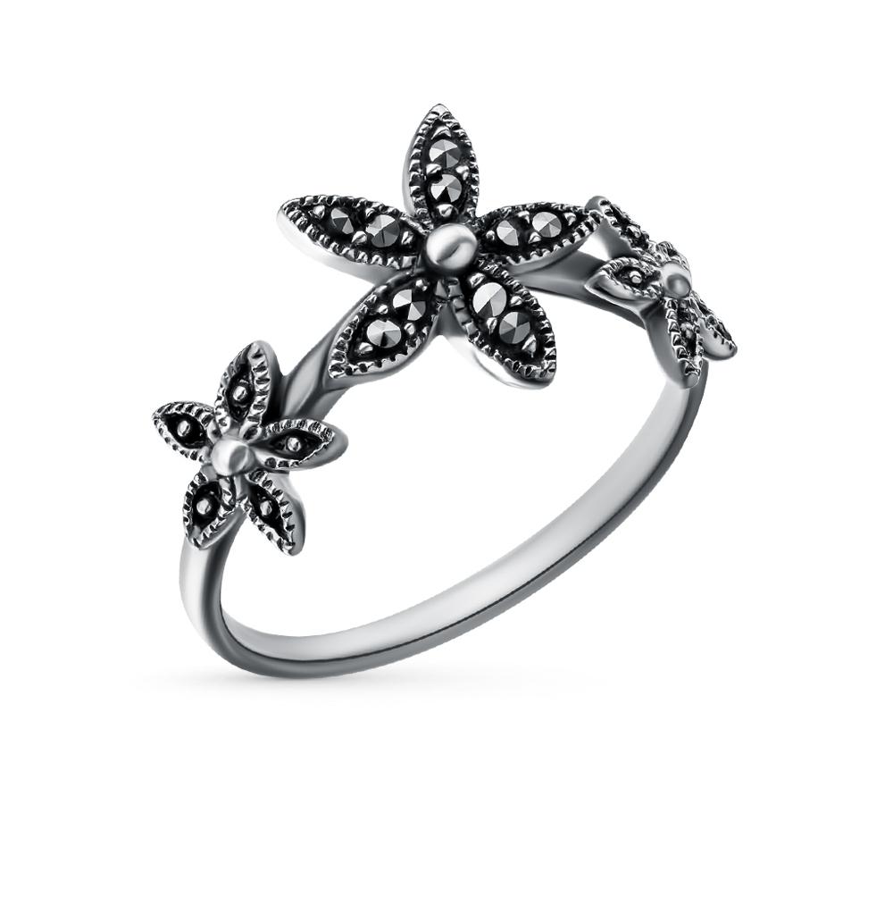 Фото «серебряное кольцо с марказитами»