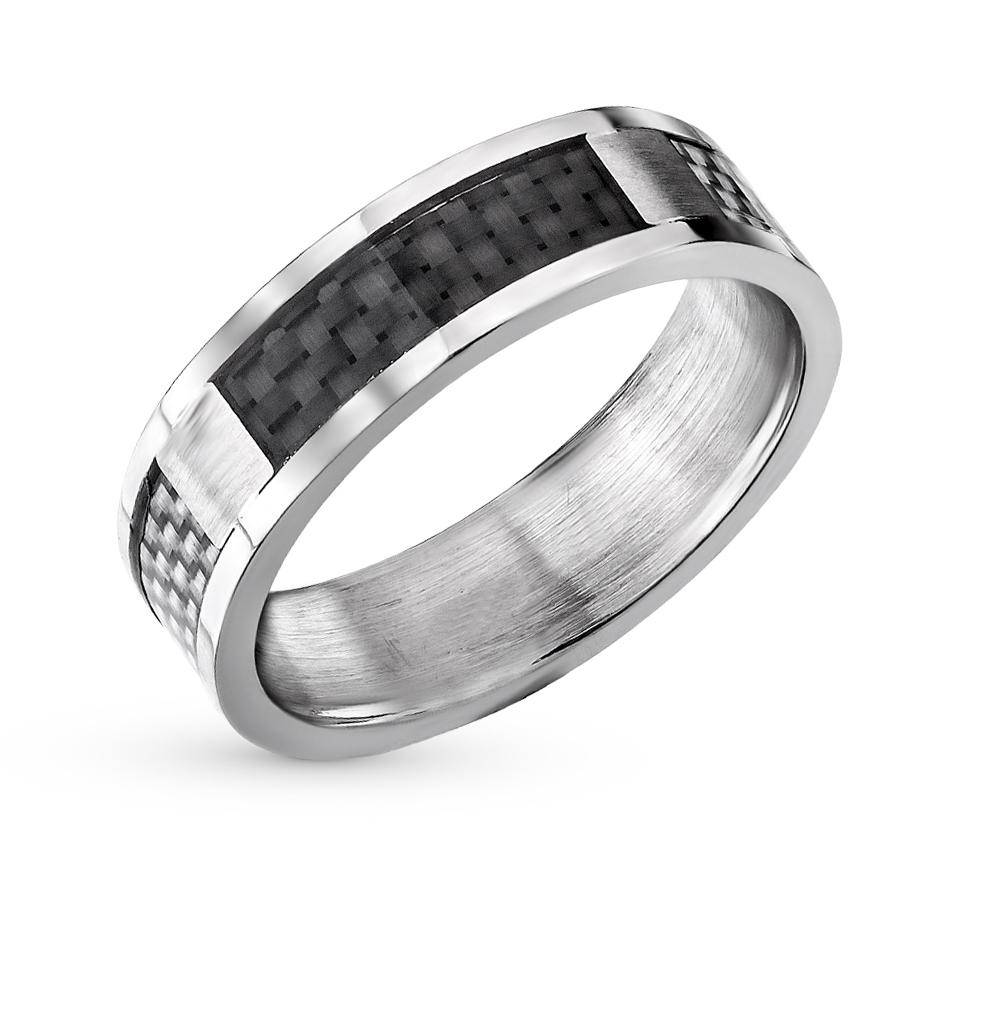 Фото «стальное кольцо с карбоном»